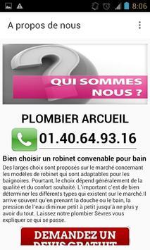 Plombier Arcueil apk screenshot