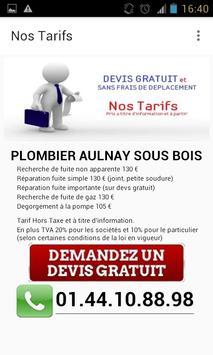 Plombier Aulnay sous Bois apk screenshot