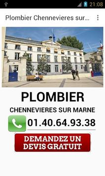 Plombier Chennevieres sur Marn poster