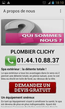 Plombier Clichy apk screenshot