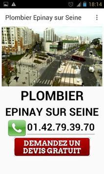Plombier Epinay sur Seine poster