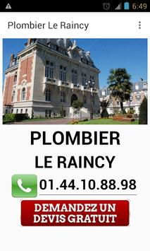 Plombier Le Raincy poster