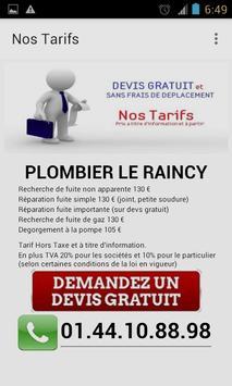 Plombier Le Raincy apk screenshot