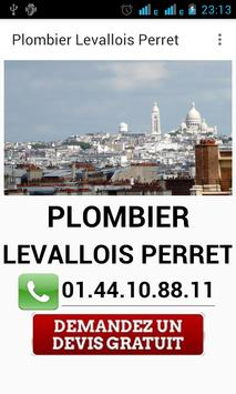 Plombier Levallois Perret poster