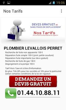 Plombier Levallois Perret apk screenshot