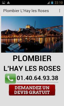 Plombier L'hay les Roses poster