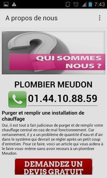 Plombier Meudon apk screenshot
