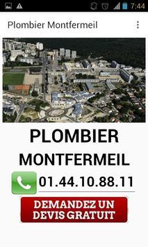 Plombier Montfermeil poster