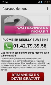 Plombier Neuilly sur Seine apk screenshot