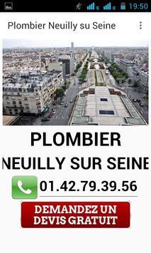 Plombier Neuilly sur Seine poster