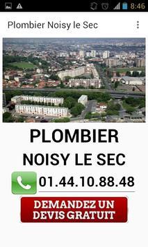 Plombier Noisy le Sec poster