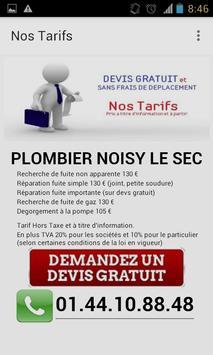 Plombier Noisy le Sec apk screenshot