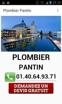 Plombier Pantin poster