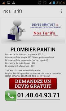 Plombier Pantin apk screenshot