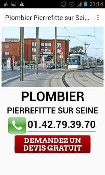 Plombier Pierrefitte sur Seine poster