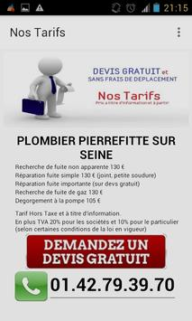 Plombier Pierrefitte sur Seine apk screenshot