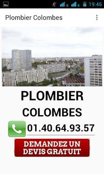 Plombier Colombes poster