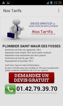 Plombier Saint Maur des Fosses apk screenshot