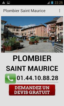Plombier Saint Maurice poster