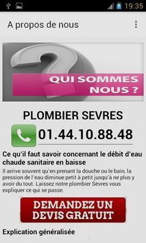 Plombier Sèvres apk screenshot