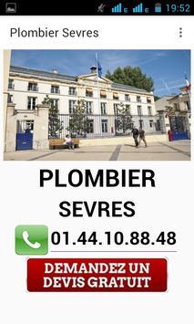 Plombier Sèvres poster