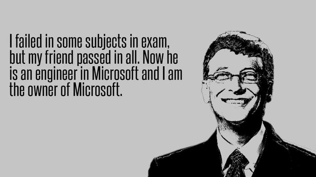 Bill Gates Quotes Collection poster