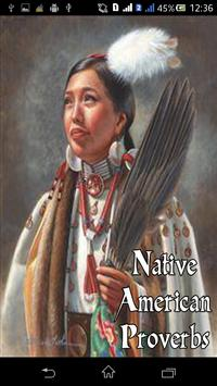 Native American Proverbs poster
