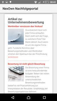 NexOwn Nachfolgeportal apk screenshot