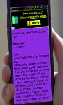 Guide SMULE Suport All Android apk screenshot