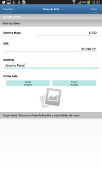 Ojo con el Voto apk screenshot