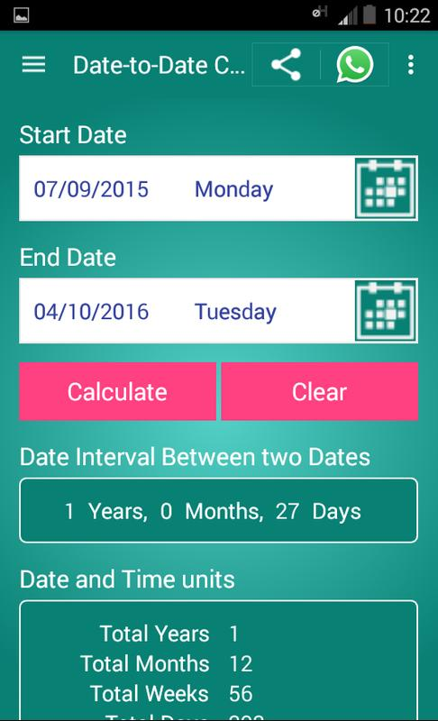 days between dates gratis date sider