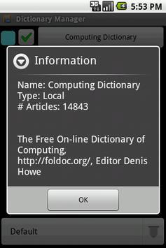 Computing Dictionary Package apk screenshot