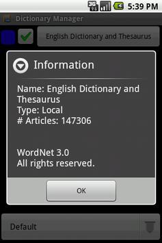 English Dictionary Package apk screenshot