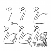 Easy Drawing Lesson: Swan icon