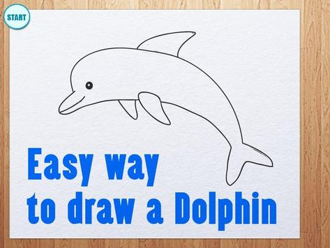 Learn How To Draw Dolphins apk screenshot