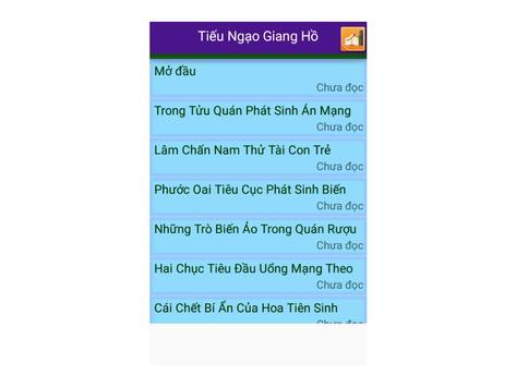 Tiểu thuyết Tiếu Ngạo Giang Hồ apk screenshot