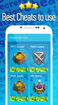 Cheats for Clash of Clans poster