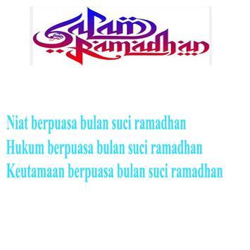 Niat puasa bulan ramadhan poster