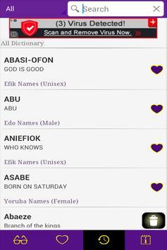 Nigerian Names apk screenshot