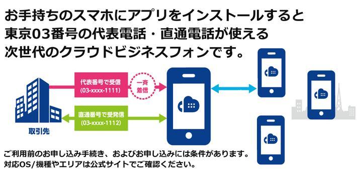 ShaMo!会社電話アプリ 東京[03]を取得できるIP電話 apk screenshot