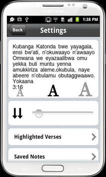 Luganda Bible Free, Uganda apk screenshot