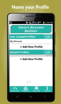 smart resume builder cv free poster