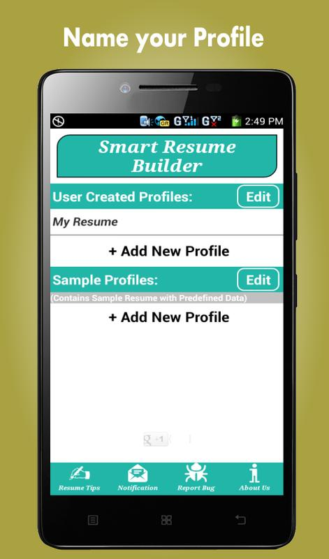 smart resume builder cv free apk free