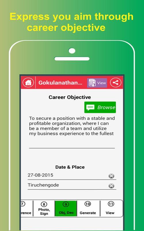 my resume buildercv free jobs apk screenshot my resume builder free