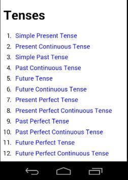 Tenses apk screenshot