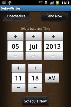 Delay Writer apk screenshot
