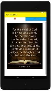 NKJV Bible Offline poster