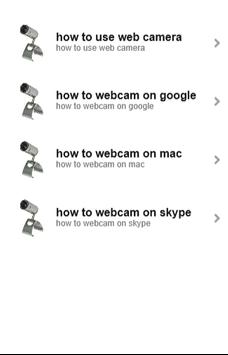 How to webcam for you poster