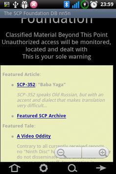 The SCP Foundation DB nn5n apk screenshot