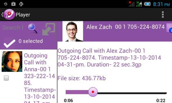 Magic Call Recorder apk screenshot